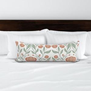 Hálószobai díszpárna - extra hosszú francia ágyra tehető díszpárna 90cm x 30cm designer textilekkel, Otthon & lakás, Lakberendezés, Lakástextil, Párna, Varrás, Hímzés, Dobd fel a hálószobádat egy stílusos díszpárnával, ami egyedi méretű és a színösszeállítás garantált..., Meska