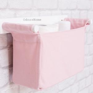 Púder rózsaszín zsebes tároló, wc papír tartó, pipere tároló, fürdőszobai rendszerező, Otthon & Lakás, Tárolás & Rendszerezés, Fali tároló, Varrás, Famegmunkálás, A minimalista stílus kedvelői nagyon szeretik ezt a fali tárolót, egyszerű a felhelyezése a falra, s..., Meska