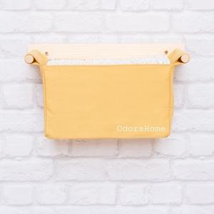 Aranyló mustársárga zsebes fali tároló, pelenkázó asztal rendszerező, fali polc, babaszoba tároló, függő tároló, Otthon & Lakás, Tárolás & Rendszerezés, Fali tároló, Varrás, Famegmunkálás, Ez az aranyló mustársárga szín nagyon divatos, sok babaszoba és gyerekszoba készül mostanság hasonló..., Meska