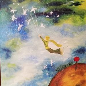 Kis herceg tanulmánykép , Otthon & lakás, Képzőművészet, Festmény, Olajfestmény, Festészet, 50x40 olajfestmény, farost, Meska