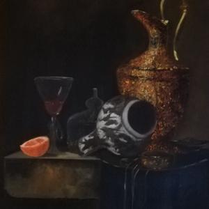 Csendélet tanulmánykép , Otthon & lakás, Képzőművészet, Festmény, Olajfestmény, Festészet, 70x50 olaj, feszített vászon , Meska