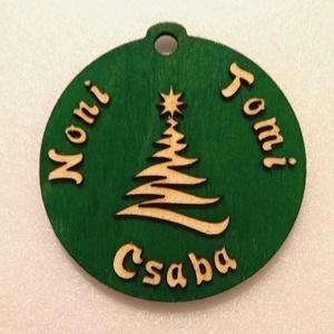 Névre szóló karácsonyfa dísz (OktaDesign) - Meska.hu