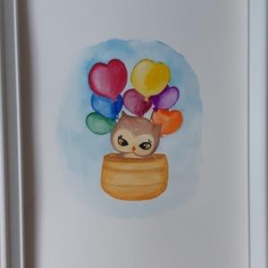 Akvarell kép gyerekszobába, Művészet, Festmény, Akvarell, Festészet, Díszítsd gyermeked szobáját egy egyedi akvarell festménnyel! \n\nEredeti, kézzel festett akvarell kép,..., Meska