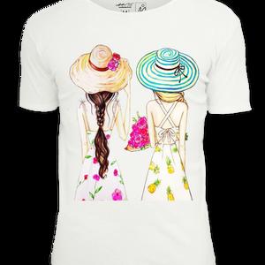 Barátnős pólószett, Ruha & Divat, Női ruha, Póló, felső, Mindenmás, 100 % pamut KEYA vagy James Nicolson pólókra készítjük el nektek ezt a 2 (vagy több) felsőből álló p..., Meska