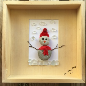 Hóember, Otthon & Lakás, Kép & Falikép, Dekoráció, Ez a Hóemberes kép igazán egyedi ajándék, a gyerekek kedvence megmarad egész évben.   Kép mérete: kb..., Meska