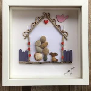 """""""Mézeskalács házikó"""", Otthon & Lakás, Kép & Falikép, Dekoráció, Lepd meg Szerelmedet egy igazán egyedi ajándékkal Valentin napra! Még személyesebbé tehető valamilye..., Meska"""