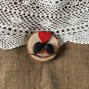 Szerelmes Madarak, Otthon & Lakás, Falra akasztható dekor, Dekoráció, Egyedi ajándék Valentin napra, ez a kavics és a fa összefonódásából készült természetes kompozíció...., Meska