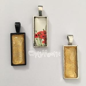 Pipacsos és aranyos téglalap üveglencsés ékszer medál nyaklánc kulcstartó táskadísz dekoráció, Ékszer, Medál, Nyaklánc, Táska, Divat & Szépség, Kulcstartó, táskadísz, Ékszerkészítés, Pipacsos és aranyszínű téglalap üveglencsés medálok.\nVálasztható, 45-70 cm hosszúságú lánccal.\nA biz..., Meska