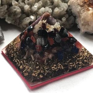 Orgonit piramis - KOS, Egyéb, Lakberendezés, Otthon & lakás, Dekoráció, Mindenmás, Orgonit horoszkópos piramis a KOS jegy szerencseköveivel, hegyikristállyal, alján bronz forgáccsal é..., Meska