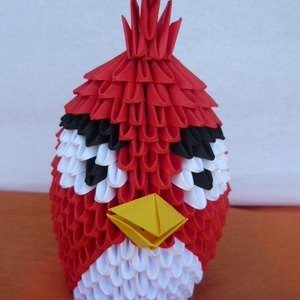 Angry Birds /piros/, Egyéb, Játék, Gyerek & játék, Játékfigura, Papírművészet, Mérges madár figura.\nA termék origami papírhajtogatási technikával készült. 6x3,5 cm-es kis téglalap..., Meska
