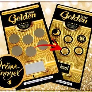 APA leszel kaparós sorsjegy - meglepetés PRÉMIUM luxus ajándék - kismamáknak / ha jön a baba - Golden Ticket (OromKonnyek) - Meska.hu