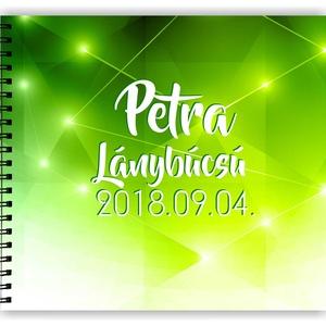 Lánybúcsú ajándék emlékkönyv ZÖLD - 3 design VÁLASSZ - egyedi album - emlék a menyasszonynak - füzet / napló - 21x19cm, Album & Fotóalbum, Papír írószer, Otthon & Lakás, Fotó, grafika, rajz, illusztráció, Könyvkötés, SAJÁT Szöveggel kérheted! Névvel és dátummal!\nZÖLD emlékkönyv Lánybúcsúra, esküvőre, eljegyzésre, lá..., Meska