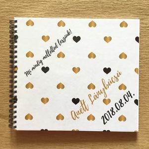 Névre szóló Lánybúcsú ajándék emlékkönyv - Prémium egyedi album - emlék a menyasszonynak - füzet / napló - 21x19cm, Esküvő, Fotó, grafika, rajz, illusztráció, Könyvkötés, KÉRHETED saját szöveggel is!\nLánybúcsúra, esküvőre, eljegyzésre, lánykérésre frappáns ajándék lehet...., Meska