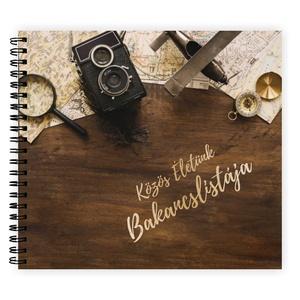 PÁRODNAK - Ajándék Férfiaknak / Ajándék Nőknek Közös Életünk Bakancslistája - ajándék album / célkitűző napló - 21x19cm, Album & Fotóalbum, Emlék & Ajándék, Esküvő, Fotó, grafika, rajz, illusztráció, Könyvkötés, Ne csak álmodozzatok! \nTERVEZZETEK kalandokat, célokat KÖZÖSEN!\nTe tudsz mindent a szerelmedről? ......, Meska