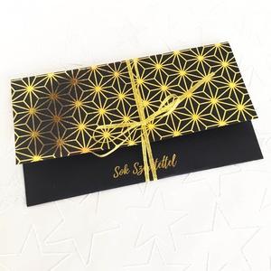 Pénzátadó boríték / ARANYOZOTT pénz átadó ajándék kártya - nászajándék átadó boríték / Születésnapra / névnapra (OromKonnyek) - Meska.hu