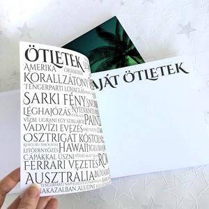 Névre szóló Bakancslista napló - Emlékkönyv - ajándék KARÁCSONYRA / születésnapra /  napló - 21x19cm