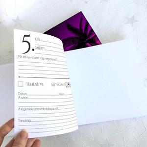 Névre szóló Bakancslista napló - Emlékkönyv - ajándék KARÁCSONYRA / születésnapra /  napló - 21x19cm Dream 2020 - otthon & lakás - papír írószer - jegyzetfüzet & napló - Meska.hu