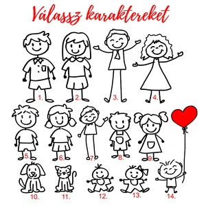 Családi beragasztós fotóalbum - Egyedi személyre szabott karakterek - Megható karácsonyi ajándék ötlet (OromKonnyek) - Meska.hu