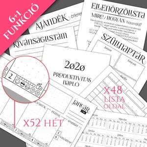Csajos NÉVRESZÓLÓ 2020-as AJÁNDÉK Határidő napló / Produktivitás napló / BuJo / Nőknek karácsonyi ajándék ötlet - Csíkos (OromKonnyek) - Meska.hu