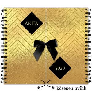 NÉVRE SZÓLÓ Határidőnapló 2020 AJÁNDÉK / Produktivitás napló / Női Naptár / Karácsonyi ajándék ötlet - Arany Hatású, Karácsony, Otthon & lakás, Naptár, képeslap, album, Ajándékkísérő, Naptár, Fotó, grafika, rajz, illusztráció, Könyvkötés, Ez nem csak egy átlagos NAPLÓ! Milyen névvel kéred? IGAZI EGYEDI prémium minőségű TRENDI AJÁNDÉK nők..., Meska