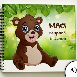 MACI csoport - MACIS Óvónéni búcsúztató BÚCSÚ ajándék emlékkönyv óvodai ballagásra óvodásoknak - 21x19cm, Otthon & lakás, Naptár, képeslap, album, Jegyzetfüzet, napló, Ajándékkísérő, Fotó, grafika, rajz, illusztráció, Könyvkötés, Szívhez szóló búcsúajándék óvónéniknek - MACI csoport óvodai emlékkönyve\nA csoport minden tagja rajz..., Meska
