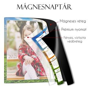Mágnesnaptár 2021 - SAJÁT fotóddal - Mágneses hátú fényképes hűtőmágnes - Mágnes fénykép Karácsonyi ajándék - 2 méret - Meska.hu