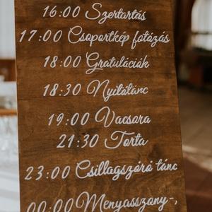 Esküvői programtábla - Meska.hu