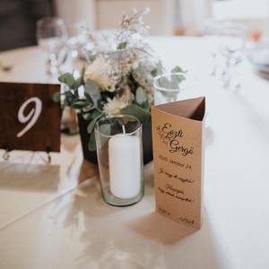 Esküvői menükártya, Esküvő, Menü, Meghívó & Kártya, Fotó, grafika, rajz, illusztráció, Meska