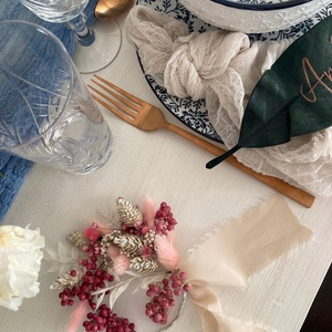 Esküvői köszönőajándék - szárazvirág karika, Esküvő, Emlék & Ajándék, Köszönőajándék, Virágkötés, Meska