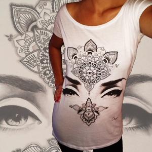 Mandala szempár póló (OrsikaArt) - Meska.hu
