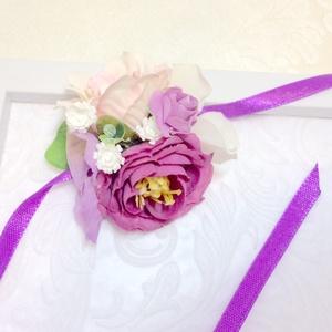 Ultraviola lila menyasszonyi csuklódísz, Karkötő & Csuklódísz, Ékszer, Esküvő, Virágkötés, Mindenmás, Ultraviola. Még mindig hódít ez az esküvői szín. Nem is csoda, hiszen vibráló, színes és egyedi hang..., Meska