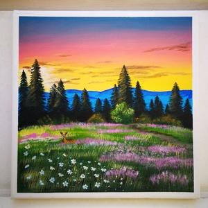 Vízió, Otthon & lakás, Képzőművészet, Festmény, Akril, Festészet, Saját készítésű akril festmény.Feszített vászonra készült, mérete 30x30 cm.\nHa tetszik a festmény, í..., Meska