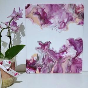 Absztrakt akril festmény , Művészet, Festmény, Akril, Festészet, Csodaszép akril festmény gazdáját keresi! :)\nA kép mérete 25x30 cm, feszített vásznon. \n\nEgyedi elké..., Meska