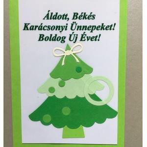 Karácsonyi Üdvözlőkártya Scrapbooking technika, ajándék, FMA Scr 97b, Otthon & lakás, Naptár, képeslap, album, Képeslap, levélpapír, Fotó, grafika, rajz, illusztráció, Mindenmás, Karácsonyi Üdvözlőkártya Scrapbooking technika, FMA Scr 97b\nAz üdvözlőkártya mérete 105x148,5 mm. A ..., Meska