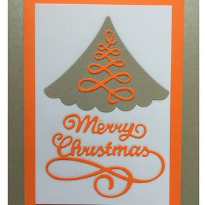 Karácsonyi Üdvözlőkártya Scrapbooking technika, FMA Scr 99a, Otthon & lakás, Naptár, képeslap, album, Képeslap, levélpapír, Papírművészet, Az üdvözlőkártya mérete 105x148,5 mm. A kivágott fenyő fóliázva van, hogy védjem az alkotást. Kézimu..., Meska