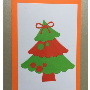 Karácsonyi Üdvözlőkártya Scrapbooking technika, FMA Scr 101b, Otthon & lakás, Naptár, képeslap, album, Képeslap, levélpapír, Mindenmás, Papírművészet, Karácsonyi Üdvözlőkártya Scrapbooking technika \nAz üdvözlőkártya mérete 105x148,5 mm. A kivágott fen..., Meska