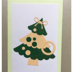 Karácsonyi Üdvözlőkártya Scrapbooking technika, FMA Scr 101c, Otthon & lakás, Naptár, képeslap, album, Képeslap, levélpapír, Mindenmás, Papírművészet, Karácsonyi Üdvözlőkártya Scrapbooking technika \nAz üdvözlőkártya mérete 105x148,5 mm. A kivágott fen..., Meska