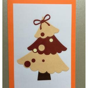 Karácsonyi Üdvözlőkártya Scrapbooking technika, FMA Scr 101d, Otthon & lakás, Naptár, képeslap, album, Képeslap, levélpapír, Mindenmás, Papírművészet, Karácsonyi Üdvözlőkártya Scrapbooking technika \nAz üdvözlőkártya mérete 105x148,5 mm. A kivágott fen..., Meska