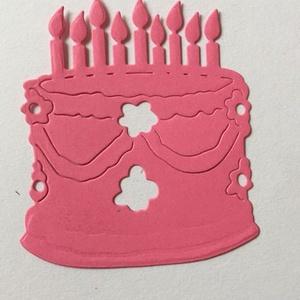 Dekoratív alak, Dekorációs célra, torta, születésnap, Papír, Scrapbook, Papírművészet, \nDekoratív alak \nDekorációs célra.  Mérete  kb 6x8 cm.\nAnyaga 160 gr szines karton. Scrapbooking tec..., Meska