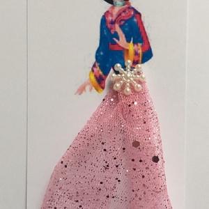 Könyvjelző Mulan Hercegnővel, Gyerek & játék, Otthon & lakás, Dekoráció, Mindenmás, Könyvjelző Hercegnővel\nA hercegnő felső teste van nyomtatva, 250 gr/m2 kartonra. A szoknya anyagja t..., Meska