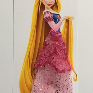 Könyvjelző Rapunzel Hercegnővel, Gyerek & játék, Otthon & lakás, Dekoráció, Mindenmás, Könyvjelző Hercegnővel\nA hercegnő felső teste van nyomtatva, 250 gr/m2 kartonra. A szoknya anyagja t..., Meska