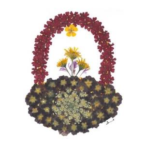 10 db Üdvözlőlap, préselt virág nyomat, ajándék, , Otthon & Lakás, Papír írószer, Képeslap & Levélpapír, Fotó, grafika, rajz, illusztráció, Mindenmás, 10 db Üdvözlőlap, préselt virág nyomat - FMS O 074\n\nA virágok életében, a préselés, olyan, mintha me..., Meska