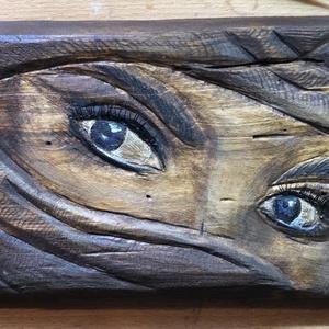 Assasin női arc , Fa, Szobor, Művészet, Famegmunkálás, Fából készült, fafaragással.  A képen látható fafaragás mérete 25x13 cm. Falra akasztható vagy aszta..., Meska