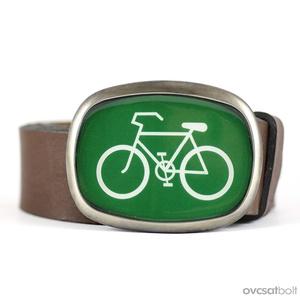 Bicikli övcsat (zöld, ovális) (ovcsatbolt) - Meska.hu