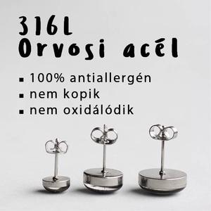 Telihold nemesacél fülbevaló (bedugós) (ovcsatbolt) - Meska.hu