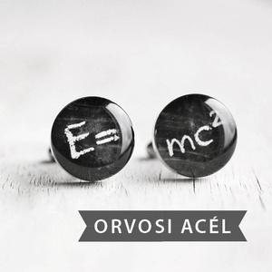 Relativitáselmélet nemesacél mandzsetta gombok (ovcsatbolt) - Meska.hu
