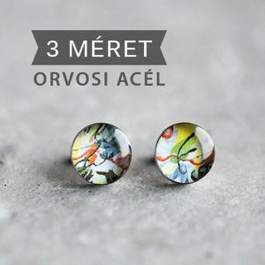 Kandinsky nemesacél bedugós fülbevaló (kék) (ovcsatbolt) - Meska.hu
