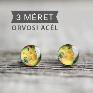 Van Gogh: Napraforgók nemesacél bedugós fülbevaló , Ékszer, Fülbevaló, Magyar motívumokkal, Táska, Divat & Szépség, Ékszerkészítés, Mindenmás, Ha SÜRGŐS, kérdezz vásárlás előtt, lehet, hogy van belőle kész darabom is.\n_________________________..., Meska