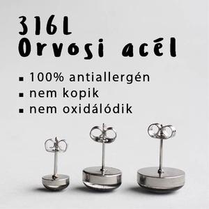 Kalocsai motívumos nemesacél fülbevaló (fekete-fehér/4, bedugós) (ovcsatbolt) - Meska.hu