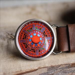 Mandala övcsat (piros), Táska, Divat & Szépség, Öv, Ruha, divat, Ha SÜRGŐS, kérdezz vásárlás előtt, lehet, hogy van belőle kész darabom is. _________________________..., Meska